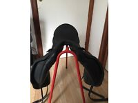 Albion black dressage saddle