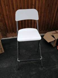 Tall chair / Bar stool with backrest, foldable
