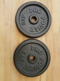 2 x 5kg cast iron plates