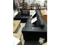 Black leather corner sofa £300