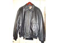 Mans Black Leather Jacket