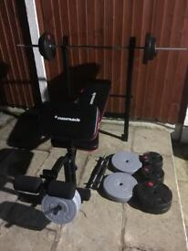MultiFunction Bench with 65kg Weights Set. •Can Deliver•