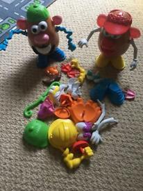 Mr and Mrs potato head and assessories