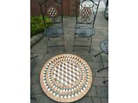 Brand new 5 piece mosaic pattern garden bistro set