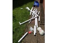 SAMBA BRANDED FULL SIZE FOOTBALL GOALS. UPVC