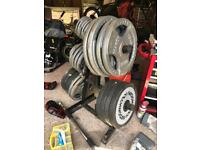 300kg Olympic weights rest free if wanted £200 no offers