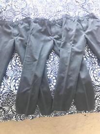 Boys grey school trousers age 6-7 M&S