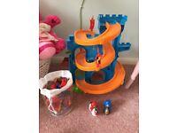 Knights castle slide toy ramp