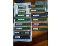 laptop memory desktop memory DDR3 DDR2 £15