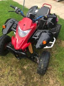 Road Legal Smc Quadzilla 250e Mot till November Quad Scooter Moped 125cc 250cc
