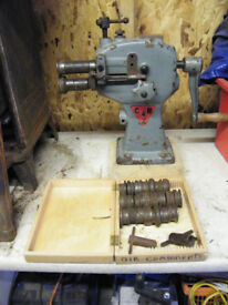 Swaging Machine with dies as seen in photos, heavy cast £420