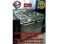 New World Gas Range Cooker 90cm