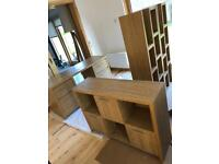 Next Home Oak Veneer Office Study Furniture Set