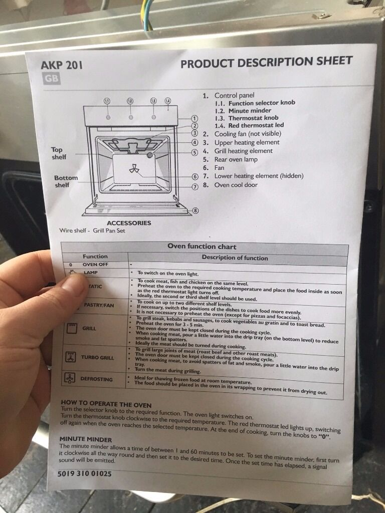 Whirlpool Oven With Instructions Manual In Eastbourne East Sussex Wiring Diagram Get Free Image About