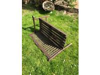 Wooden garden bench needs tlc hence £5