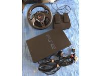 PS2 WITH STEERING WHEEL
