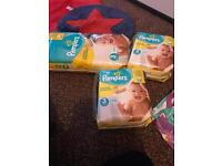 3 bags size 3 pampers nappies new