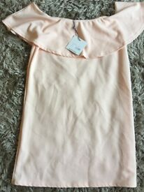 Peach dress from misguided size 12