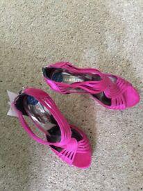 Sandals - Brand new, cerise party sandals size 3.5