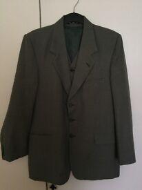 Jade Green Suit 3 Pieces. Chest Size 42 Waist Size 38