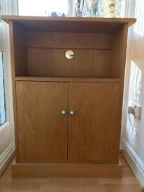REDUCED Bespoke oak hall cabinet