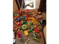 HUGE BUNDLE OF NEW BORN BABY TOYS