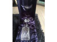 Brand new Stuart crystal decanter