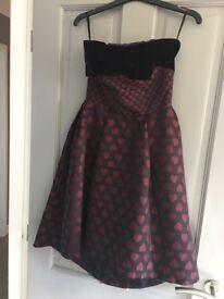 Coast Size 6 love heart print dress