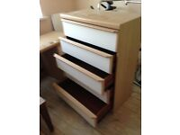 Dressing table and 5 draw chest