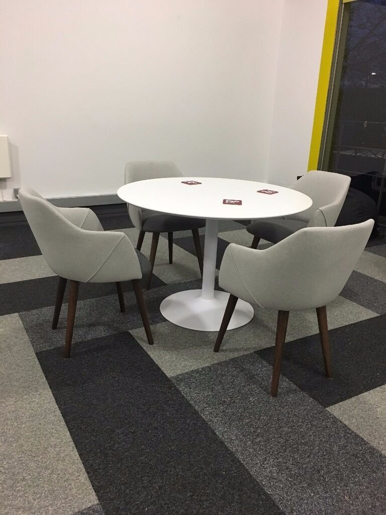 HABITAT LANCE white round dining table hardly used in  : 86 from www.gumtree.com size 768 x 1024 jpeg 111kB