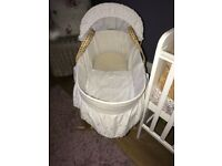 Moses basket and stand uses a few times
