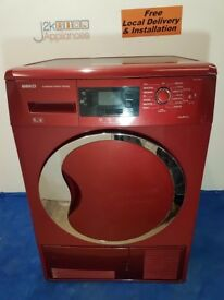 DY117-RED Beko 9kg Sensor Condenser Dryer with warranty can be delivered or collected