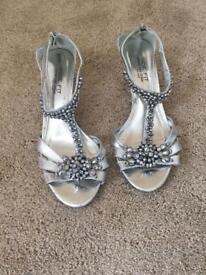 Next sparkly silver shoes