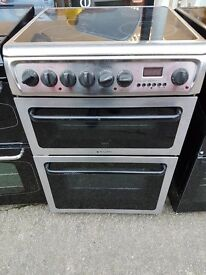 REFURBISHED - HOTPOINT MODEL C367EXH SILVER DOUBLE OVEN