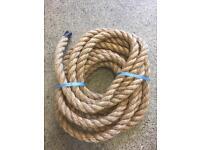 28mm Manila decking rope x 9metres, brand new, garden rope, outdoor rope, diy rope