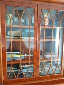 Antique Reproduction Bookcase/ cabinet