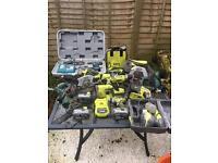 Ryobi one,makita,Bosch power tools