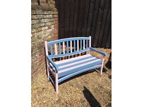 Hand Painted Hardwood Professionally Painted Garden Bench