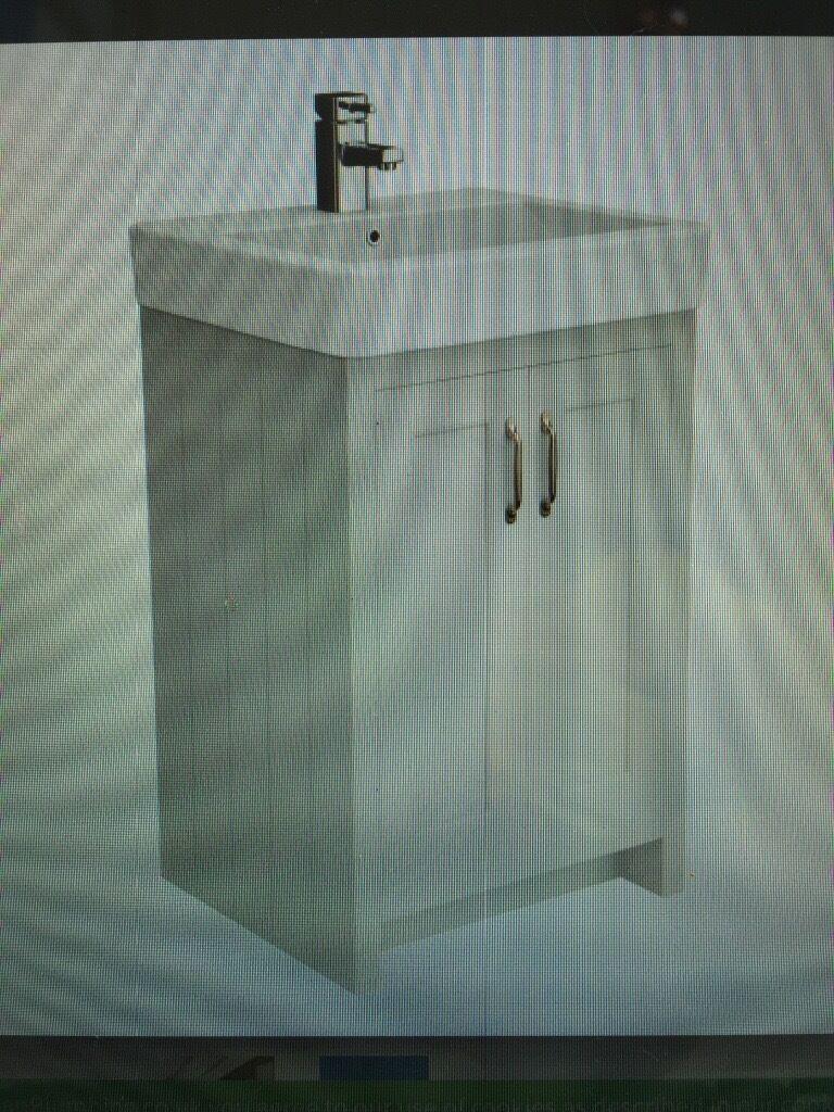Bathroom Sinks Gumtree bathroom sink and grey vanity unit 560mm wide | in chertsey