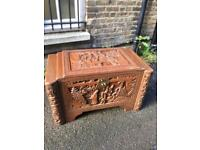 Chinese Camphor Wood carved chest