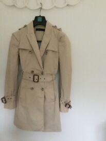 Classic Zara trench coat, size 10. Washable.