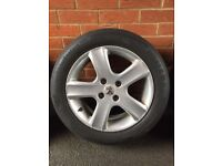 Peugeot Alloy Wheels with winter tyres