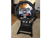 Logitech G29 wheel, pedals, stand and GT Sport PS4