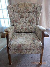 small fireside armchair