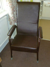 Adjustable High Back Chair with Padded Arms - £30