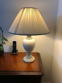 Pair of large table lamps. Collect Chichester