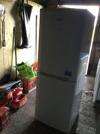 Almost new Beko fridge freezer white