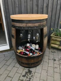 Refurbished oak barrel
