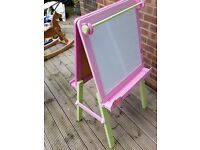Wooden Chalk and Magnetic White Board Easel (Early Learning Centre)