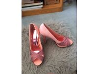 Pink crystal size 4 prom shoes